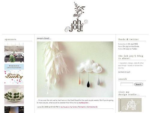 Oh joy blog