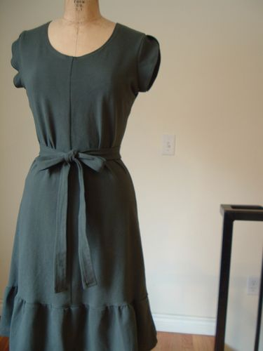 Charcoal cotton jersey dress
