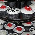 J & M's Wedding black red n white